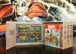 Marvel Masterworks Famous Firsts 75th Anniversary Hardcover Box Set & Stan Lee Signed Poster